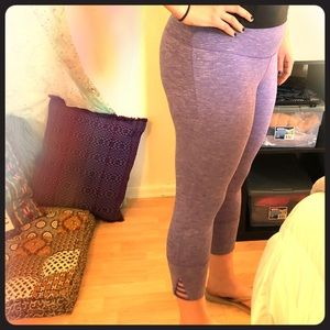 Prana purple workout yoga capris legging